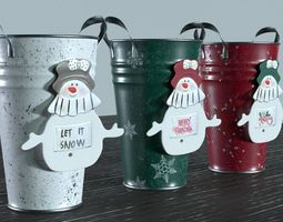 Christmas Candy Vase 3D asset