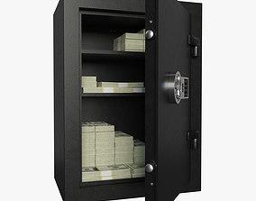 Safe with money 3D asset