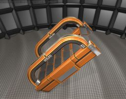3D model Sci-Fi Stairs - 10 - Orange Version