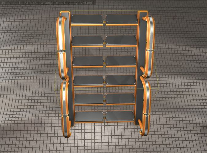 sci-fi-stairs-27-orange-version-3d-model