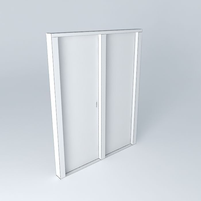 sliding glass doors free 3d model max obj 3ds fbx stl dae