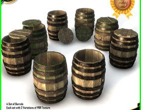 3D model Barrels Pack PBR
