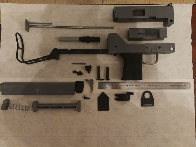 Ingram MAC-10 submachine gun mechanical replica   3D Print Model
