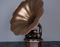 Gramophone art 3D model