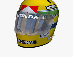 3D asset Ayrton Senna helmet 1976