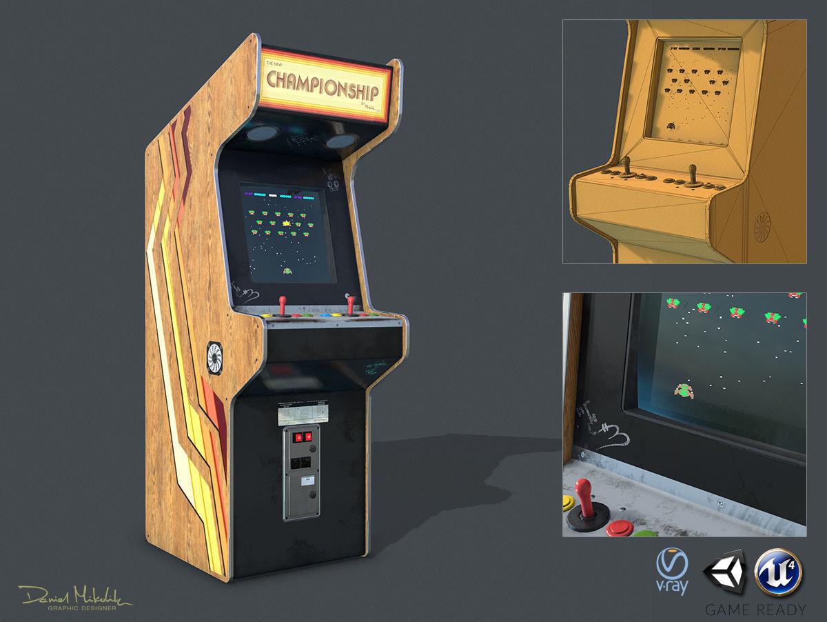 Game Machine PBR | 3D model