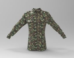 3D asset Forest Camouflage Blouse