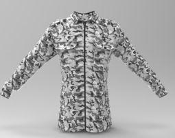 3D asset Snow Camouflage Blouse