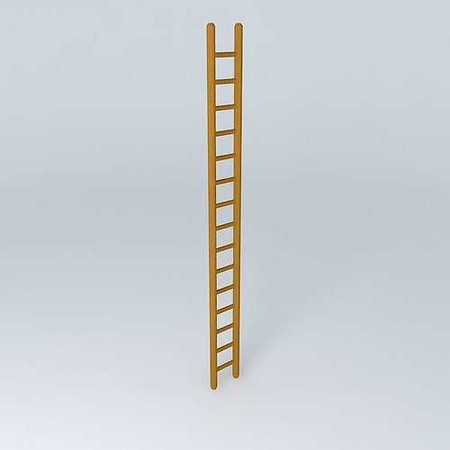 Wooden Ladder 3D Model
