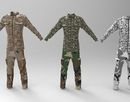 Military Clothing Various camouflage 3D