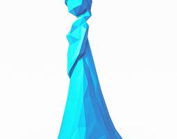 Elsa Disney Low Poly 3D asset