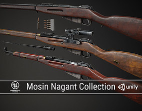 3D model PBR Soviet Mosin Nagant Collection