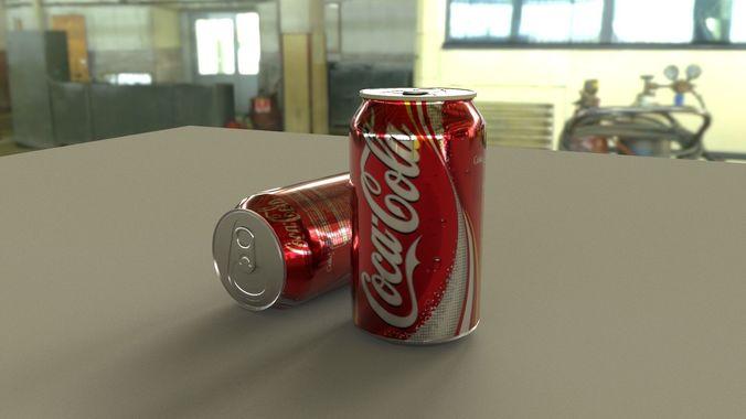 coca cola 3d 3d model low-poly obj mtl fbx ma mb 1