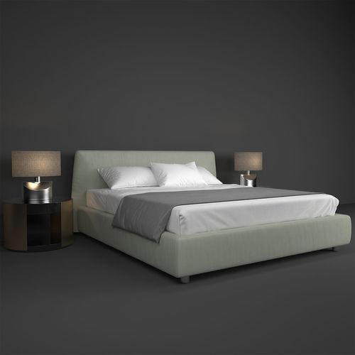poliform bed 3d model max obj mtl fbx 1