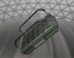 Sci-Fi Stairs - 7 - Green Version 3D model