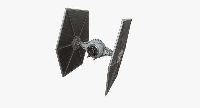 tie-ln space superiority starfighter 3d model low-poly obj mtl 3ds fbx blend dae 1