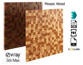 Wood Mosaic Pattern 3D asset