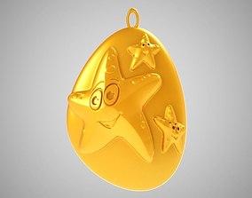 Rock Starfish Necklace 3D print model
