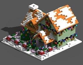 Xmas House Voxel - 2 3D model