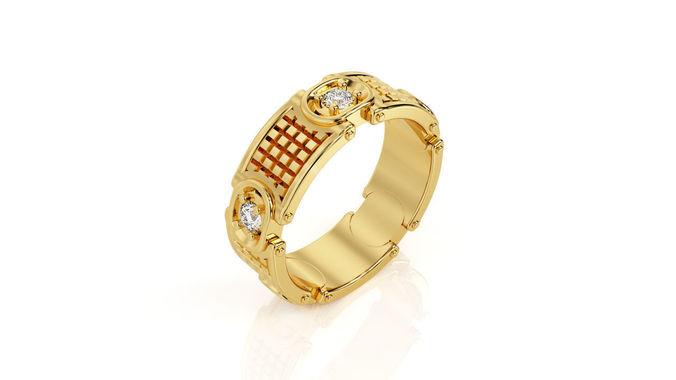 ring r 0087 3d model obj mtl 3ds stl 3dm 1