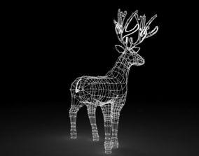 Christmas Decoration Out Door Led Lighted Deer 3D