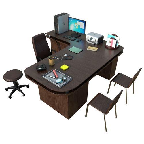 clinic desk with accessories 3d model low-poly max obj mtl fbx ma mb 1