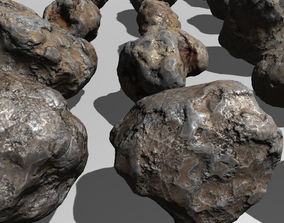 Asteroids Pack rock stone asteroid meteorite 3D model