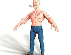 3D model Sailor Popeye