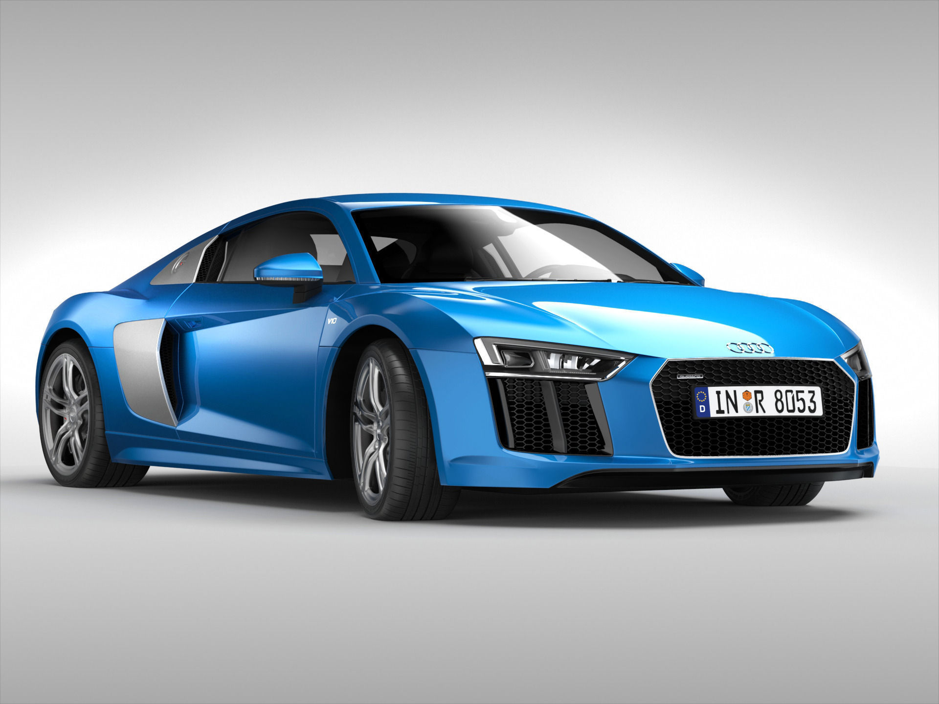 ... Audi R8 V10 Coupe 2016 3d Model Max Obj 3ds Fbx 4 ...