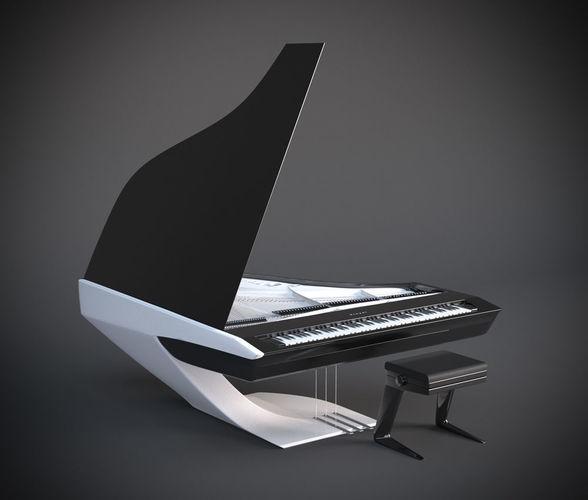 peugeot piano 3d model max obj mtl 1