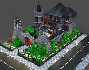 3D Lego mansion