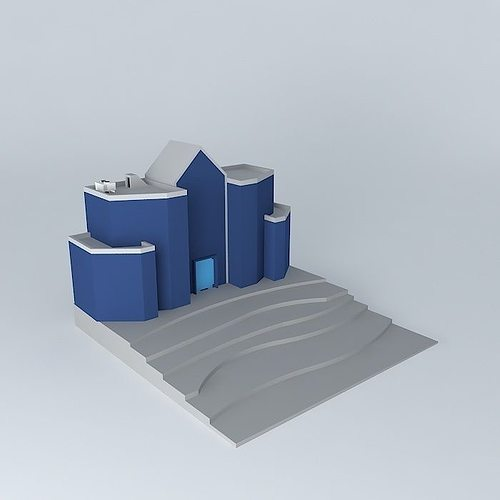 3d Simple Building Cgtrader