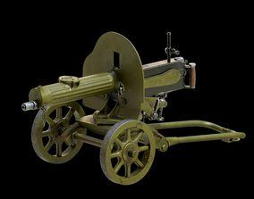 3D model Maxim machine gun