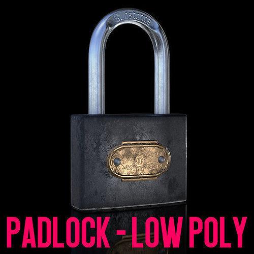 padlock 3d model obj mtl 3ds fbx c4d 1