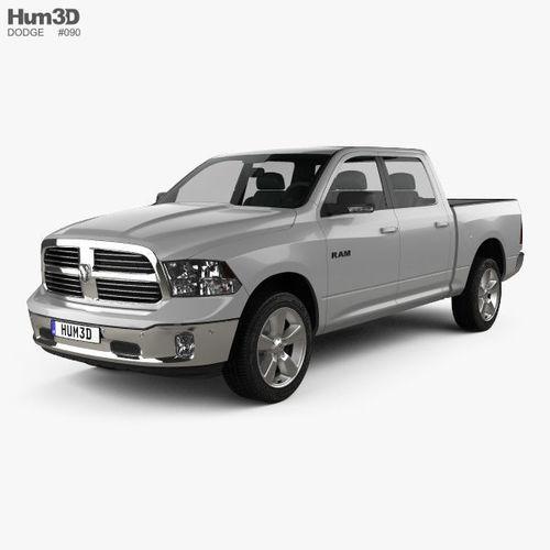 dodge ram 1500 crew cab big horn 2017 3d model max obj mtl 3ds fbx c4d lwo lw lws 1