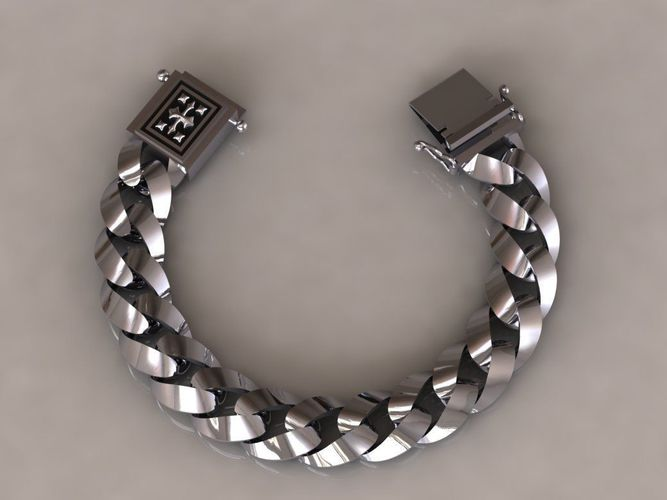 chain bracelets 06 3d model obj mtl 3ds fbx stl 1