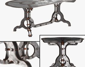 3D Rust Coffe Table