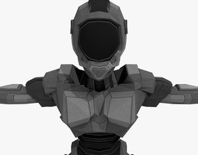 3D model Android Robot Low-poly