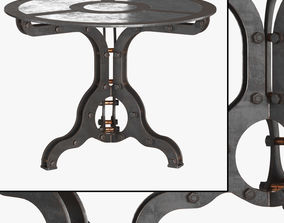 3D Rust end table