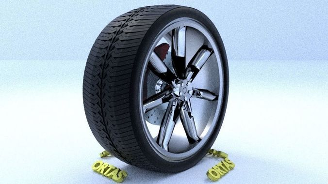 ortas car rim 23 game ready rim tire and disc 3d model obj mtl fbx 1