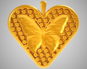 3D printable model Heart Butterfly