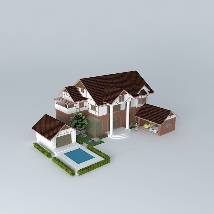 House project thailand free 3d model max obj 3ds fbx stl for House project online