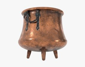 3D Copper cauldron