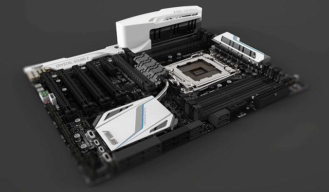 motherboard 3d models