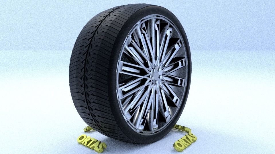 ORTAS CAR RIM 48 GAME READY RIM TIRE AND DISC