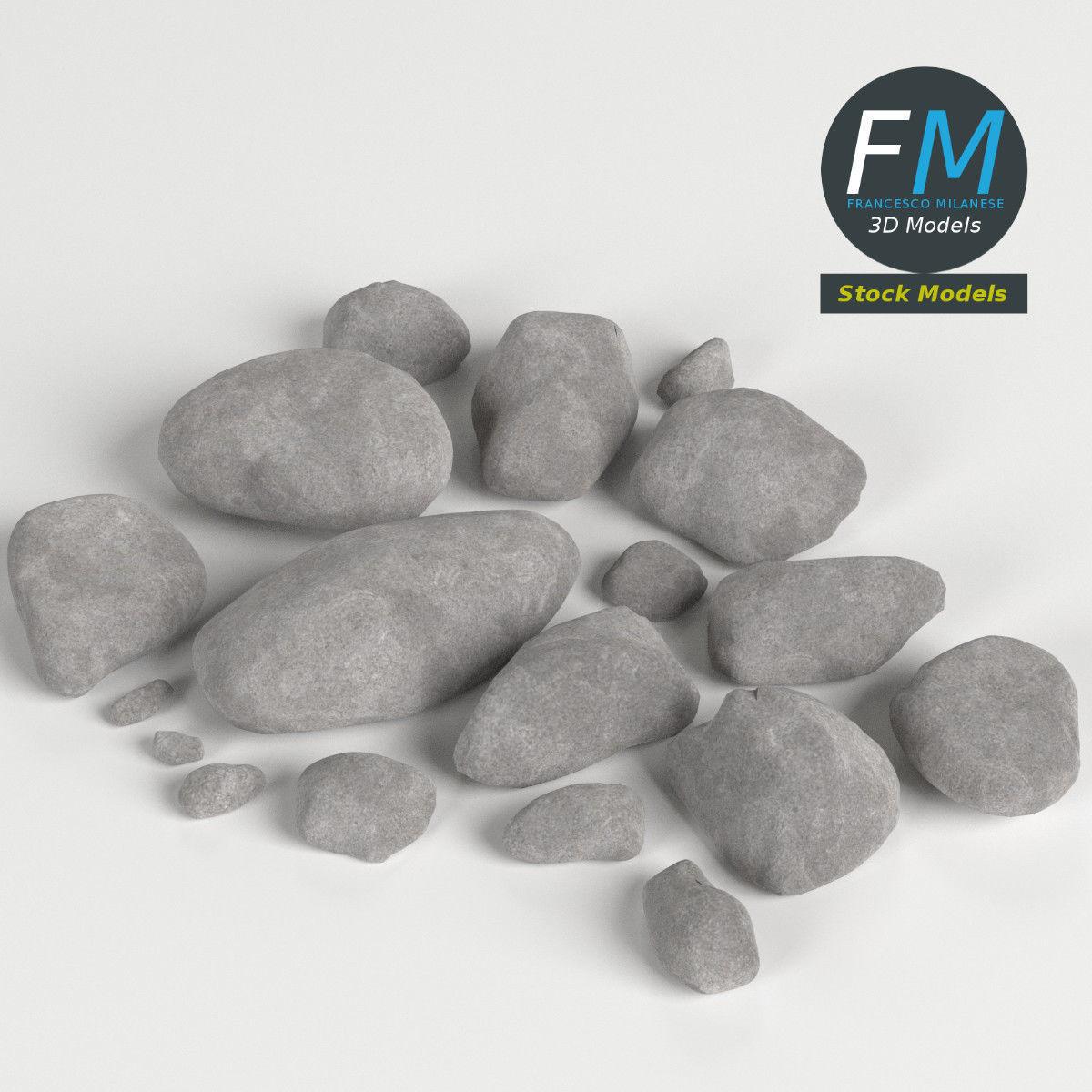 Pebbles and stones set