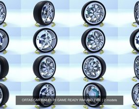 3D ORTAS CAR RIM 69-70 GAME READY RIM AND TIRE