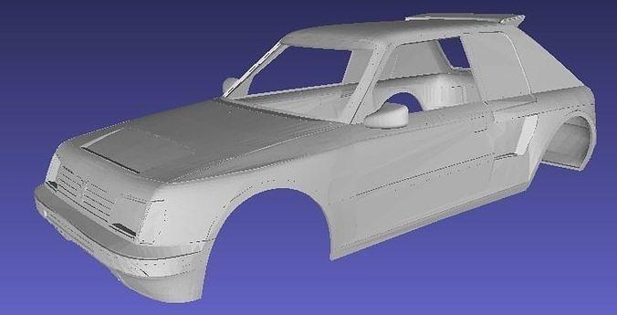 Peugeot 205 Rally Printable Body Car | 3D Print Model