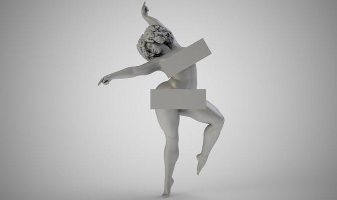 dance performance 3d model obj mtl stl 3mf 1