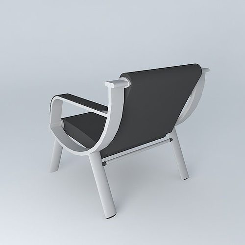 Poltrona waiting chair 3d model cgtrader for Poltrona 3d